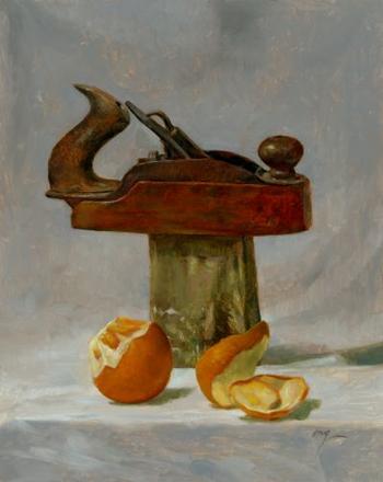 Wilson Jay Ong, Orange Planer, oil on canvas