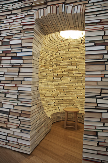 Aaron T Stephan  --  Building Houses/Hiding Under Rocks, 2007  altered books