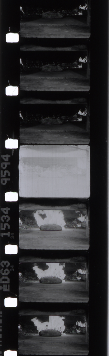 Barak Olins, 16mm film still Giclee print What of the Ashes, 2004