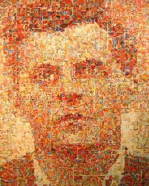 Mapping Wittgenstein, altered anatomy books, 2007