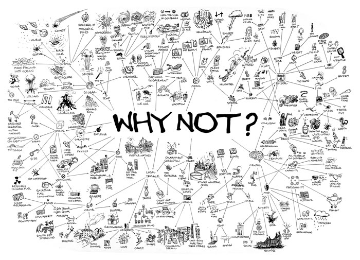 Jeff Badger, <i>Why Not</i>, ink on paper