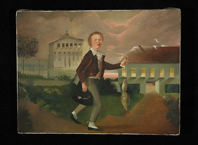 <b>Tim Clorius</b>, <i>Wolfram G. Heim - Boy with Carp</i>, 2008, oil on canvas           <a href=http://www.timclorius.com/whitney.html>Online Catalog</a>.