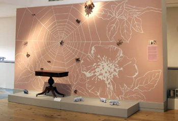 <i>Cobweb Club</i> (installation view), Portland Museum of Art, mixed media, 2008