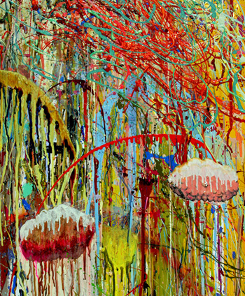 <b>Matt Cote</b>,<i>Organized Chaos</i>, mixed media, 2008