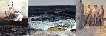 Michael Torlen, <i>Drawn to the Sea (from Sanger Fra Mor)</i>, watercolor and gouache