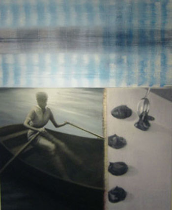 Dream Rower and Spoon, oil on canvas, 2005