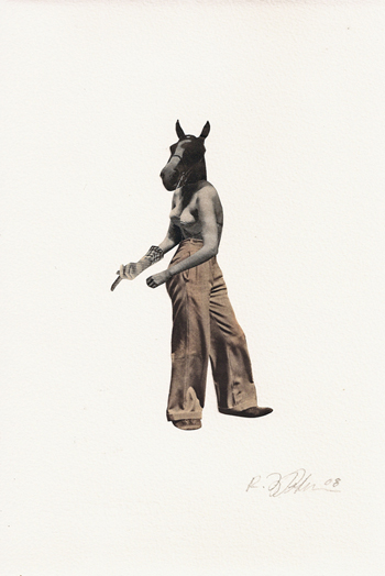 <b>Rebecca FitzPatrick</b>, <i>Spieler</i>, Collage on paper