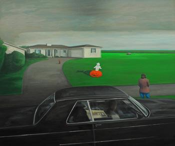 <b>Richard Hutchins</b>, <i>Casper</i>, oil on canvas