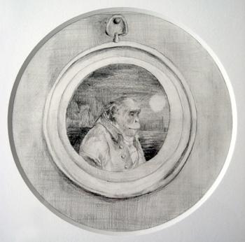 <b>Lydia Badger</b>, <i>Sea Captain</i>, Pencil on paper