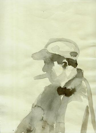 Brian Lynch, <i>Big Cigar</i>, ink on paper