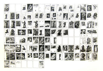 <i>Mapping Icons (Rodin)</i>, ink on paper