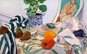 Debra Yoo, October Still Life, oil on canvas