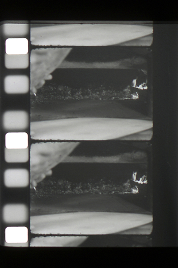 16mm film still Giclee print from What of the Ashes, 2004