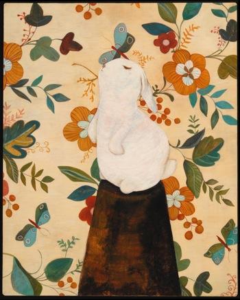 <b>Alex Sax</b>, <i>Portrait of a Rabbit</i>, egg tempera
