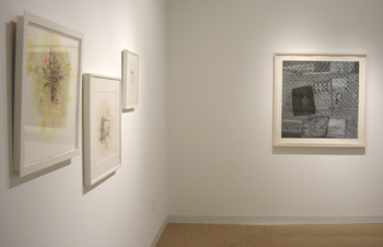 installation view - small gallery, Skura and Rauschenberg