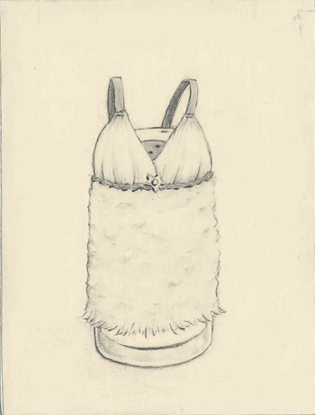 <i>Salt Shaker Cozy</i>, graphite, 2008