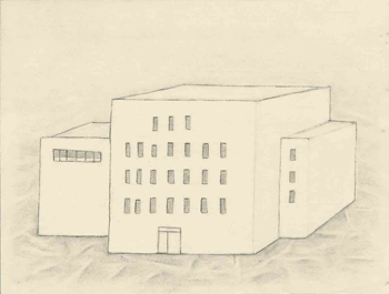 <i>Small Model of Viburnum Institute</i>, graphite, 2008