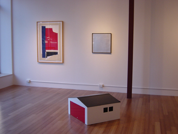 installation view - Motherwell, Warhol and Opie