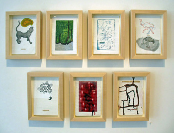 Lucinda Bliss, <i>Lessons in English,</i> (installation view), mixed media & altered books, 2008