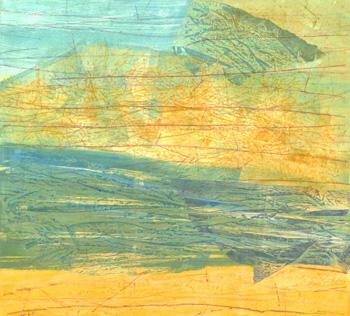 Wendy Prellwitz, <i>Fissures 10</i>, monoprint