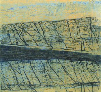 Wendy Prellwitz, <i>Fissures 13</i>, monoprint