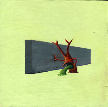 <b>Jeff Badger</b>, <i>Still Sick</i>, Acrylic on panel