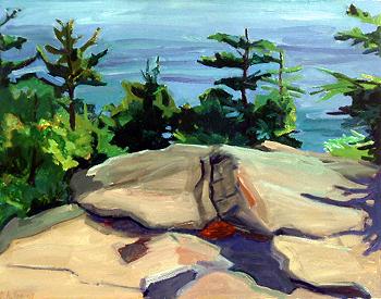 Debra Yoo, <i>Flat Rock, Burnt Head</i>, 2007, 14