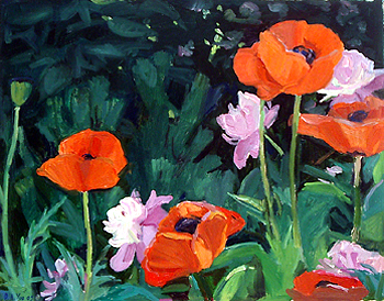 Debra Yoo, <i>Poppies and peonies</i>, 2009, 14